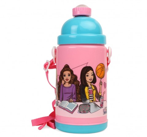 Barbie Barbie Study Squad Pink Water Bottle 450 ml for age 3Y+  Water Bottles & Sipper for Girls age 3Y+