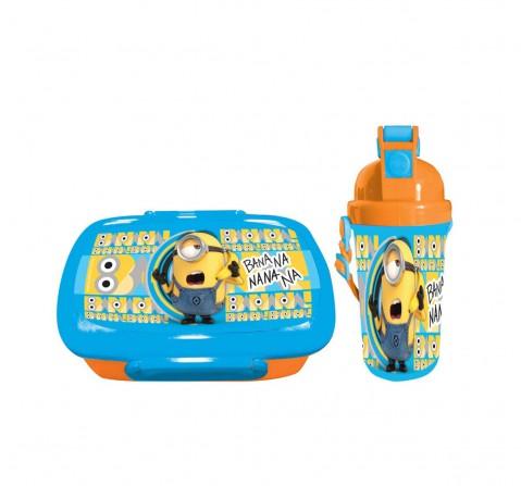 Minions Banana Blue & Orange Combo Box Bags for Kids age 3Y+