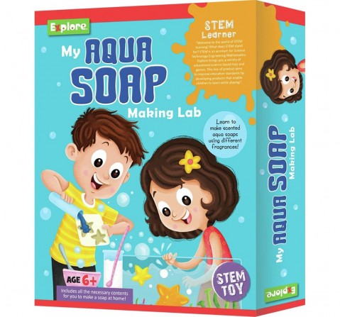 Explore My Aqua Soap Making Lab Science Kits for Kids Age 6Y+