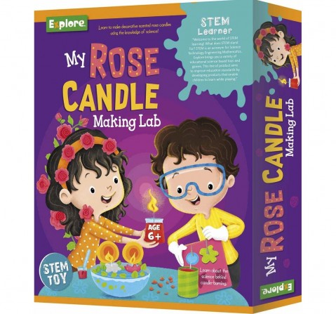 Explore - My Rose Candle Making Lab Science Kits for Kids Age 6Y+