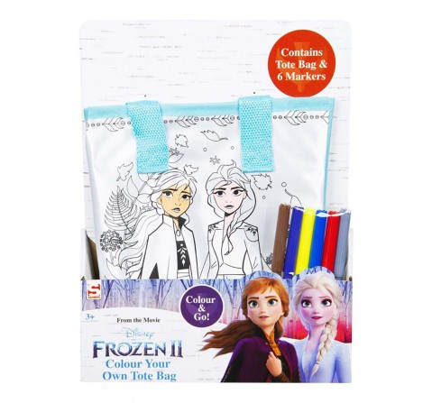 Disney Frozen2 Colour Your Own Totebag DIY Art & Craft Kits for Girls age 3Y+