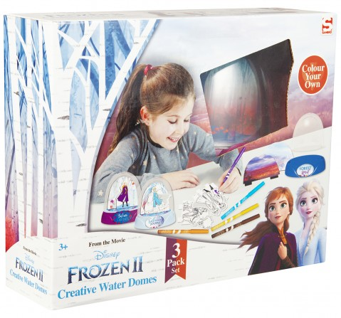 Disney Frozen2 Set Of 3 Creative Water Domes DIY Art & Craft Kits for Girls age 3Y+