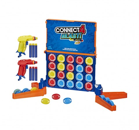 Hasbro Connect 4 Blast! Game With Nerf Blasters Games for Kids age 8Y+