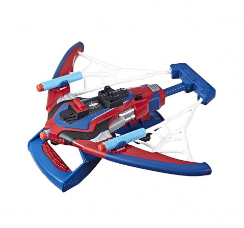 Marvel Spider-Man Web Shots Spiderbolt NERF Powered Blaster Toy, Fires Darts, Includes 3 Darts, For Kids Ages 5 and Up Action Figure Play Sets for BOYS age 5Y+