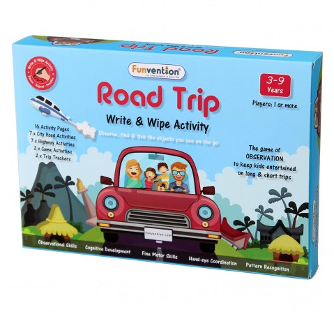 Funvention Write & Wipe Activity - Road Trip Science Kits for Kids Age 3Y+