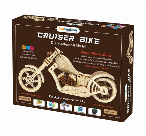 Funvention Cruiser Bike - Diy Mechanical Model Stem for Kids Age 8Y+