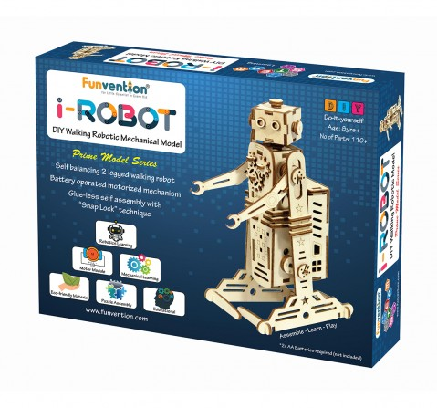 Funvention I-Robot - Diy Walking Robotic Model (Prime Series) Stem for Kids Age 8Y+