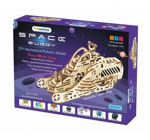 Funvention Space Buggy - Diy Walking Robotic Model (Prime Series) Stem for Kids Age 8Y+