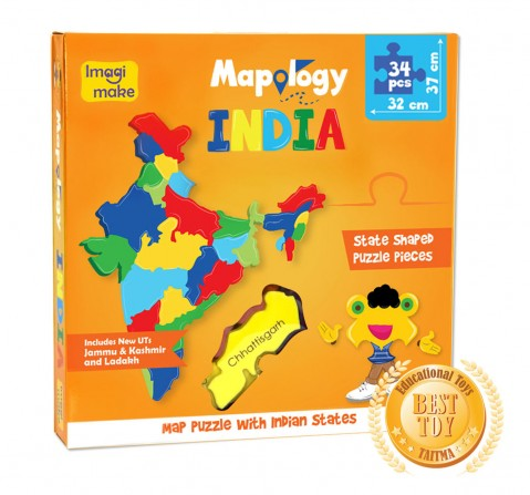Imagimake Mapology : States Of India Map Puzzle for Kids age 3Y+