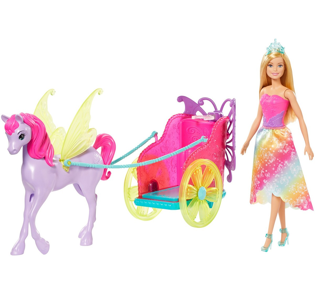 BARBIE  Princess Doll, Fantasy Horse & Chariot Dolls & Accessories for Girls age 3Y+