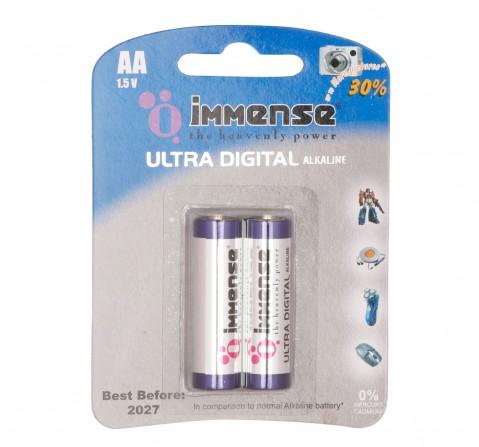 Immense AA Ultra Digital Alkaline battery Pack of 2, 3Y+