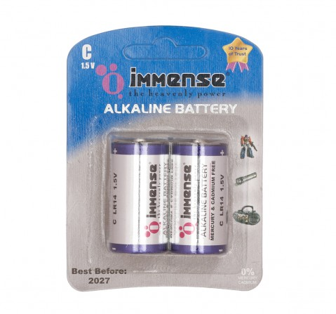 Immense C Type Alkaline battery Pack of 2, 3Y+