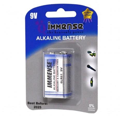 Immense 9V Alkaline battery Pack of 1, 3Y+