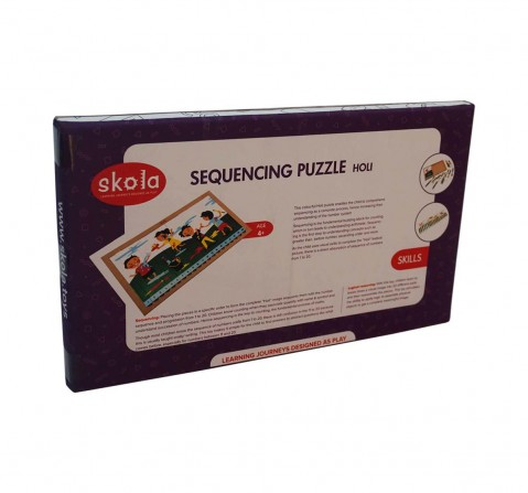 Skola Toys Sequencing Puzzle Holi Wooden for Kids age 3Y+