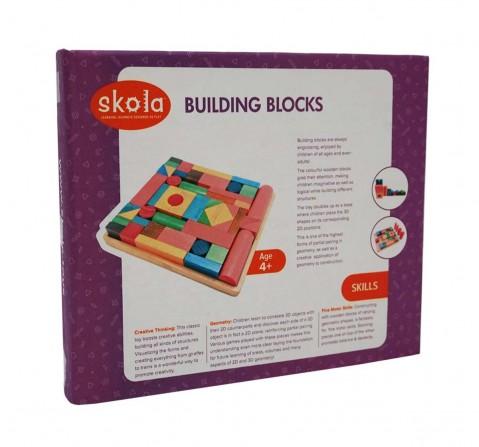 Skola Toys Building Blocks Wooden Toys for Kids Age 4Y+