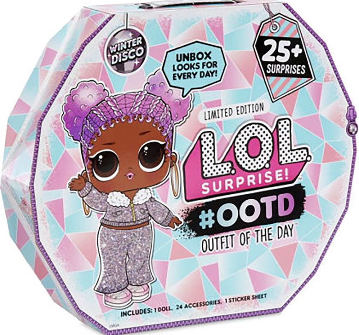 Lol Surprise Ootd (Outfit of The Day) Winter Disco 25+ Surprises, Collectible Dolls for Girls age 3Y+ (Assorted)