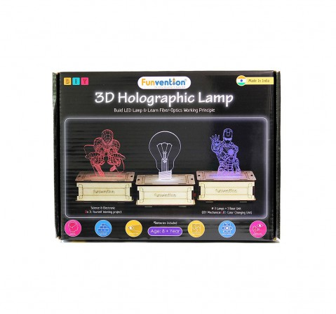 Funvention  3D Holographic DIY Lamp STEM for Kids age 8Y+