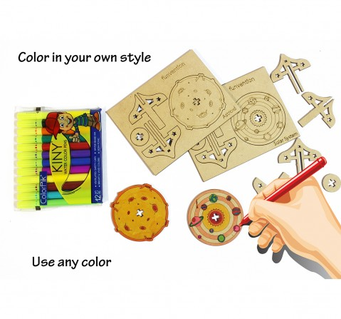 Funvention  DIY Spinning Top Kits Solar System & Asteroid Science Kits for Kids age 3Y+