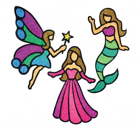 Imagimake Fleximos Window Art- Mini - Princess Sand, Slime & Others for Kids age 3Y+