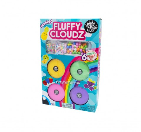 Compound Kings Mix & Mash Fluffy Cloudz Pack of 4 Sand, Slime & Others for Kids age 4Y+