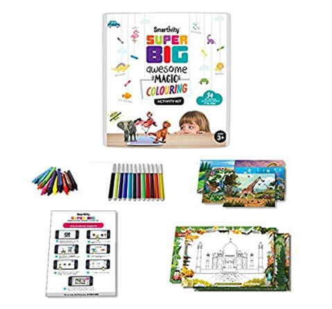 Smartivity Superbig awesome colouring magic STEM for Kids age 3Y+