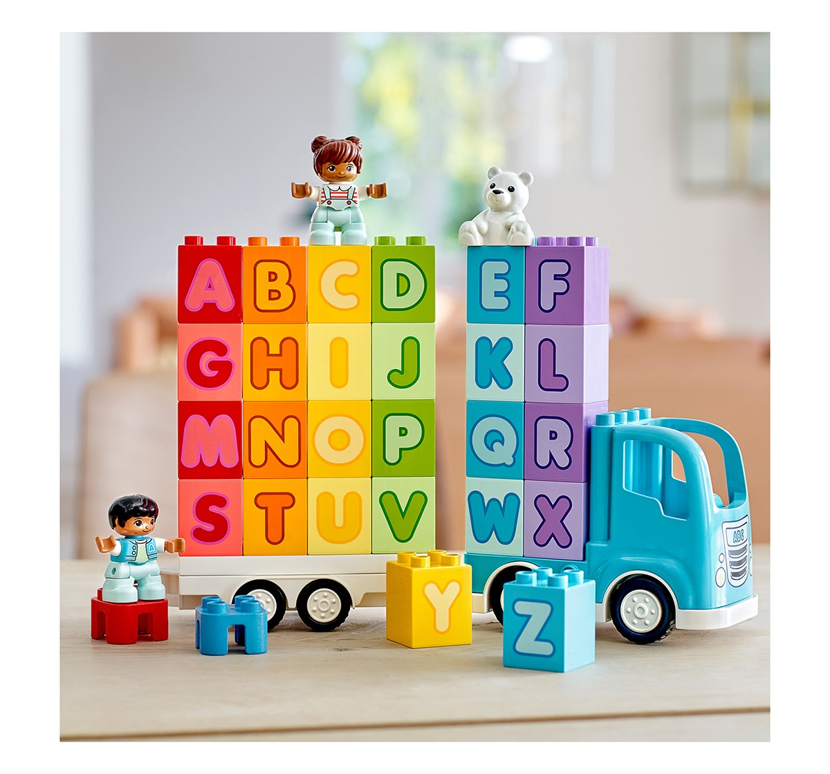 LEGO 10915 Alphabet Truck Lego Blocks for Kids age 18M +