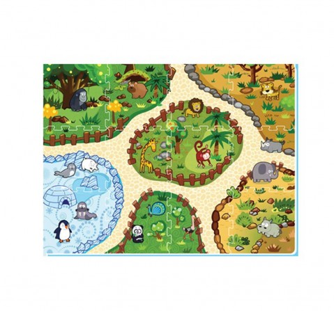 Sunta H.Trf Printed Ar Puzzzle Popup Mat-Animal Land Baby Gear for Kids Age 10M+