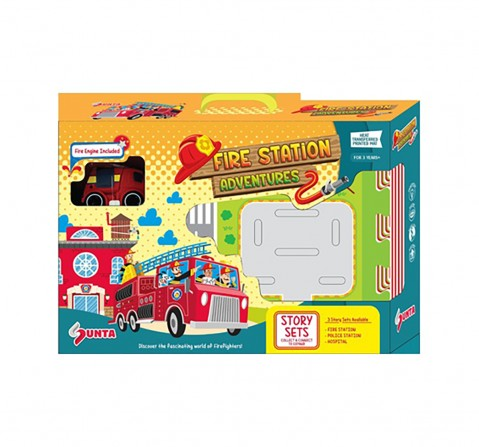 Sunta HTP Puzzle-Fire Station With 1 Fire Engine Baby Gear for Kids age 3Y+