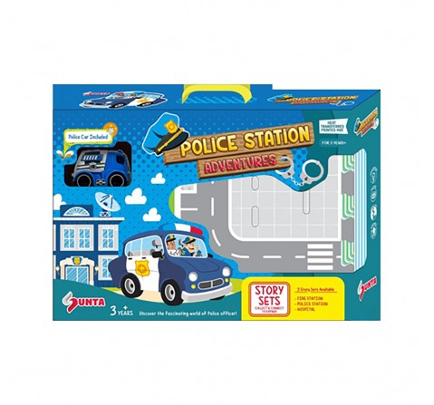 Sunta HTP Puzzle-Police Station With 1 Police Car Baby Gear for Kids age 3Y+
