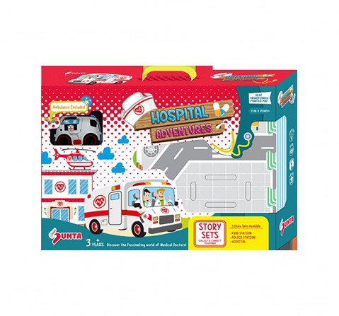 Sunta HTP Puzzle-Hospital With 1 Ambulance Baby Gear for Kids age 3Y+