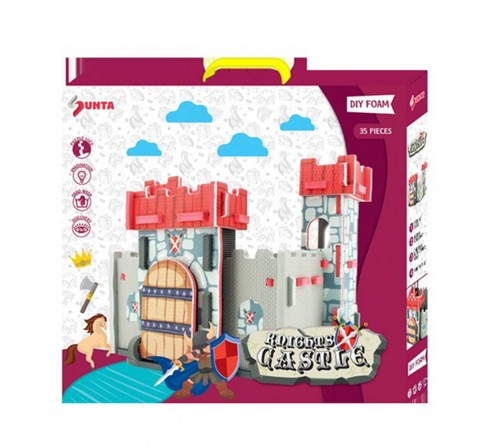 Sunta Diy H.Trf Printed Knights Castle Doll House & Accessories for Kids Age 3Y+