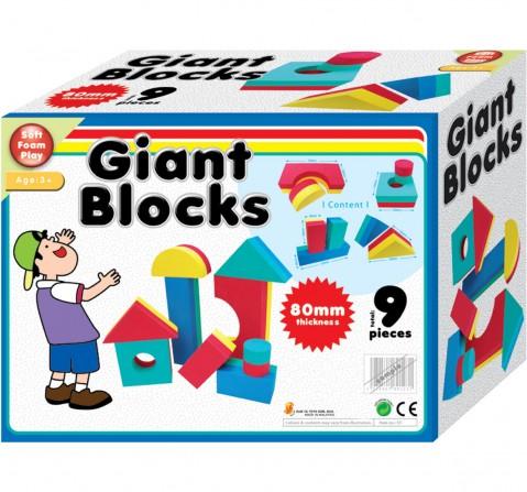 Sunta Giant Foam Blocks, 9Pcs  Baby Gear for Kids age 3Y+