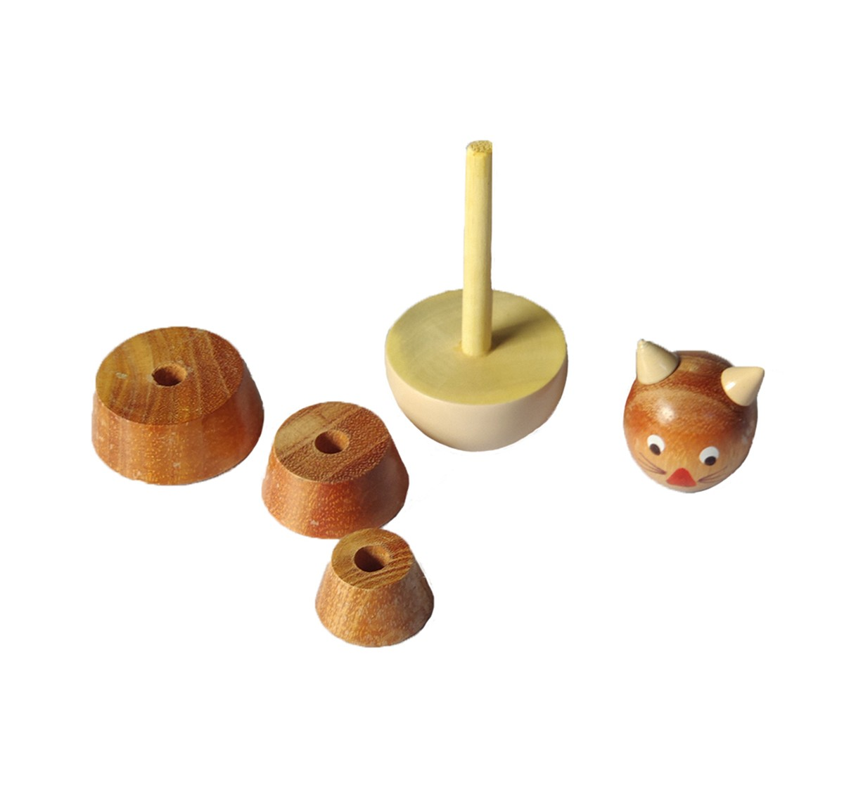 Nurture India Wooden Cat Counting Set Wooden Toys for Kids age 12M+