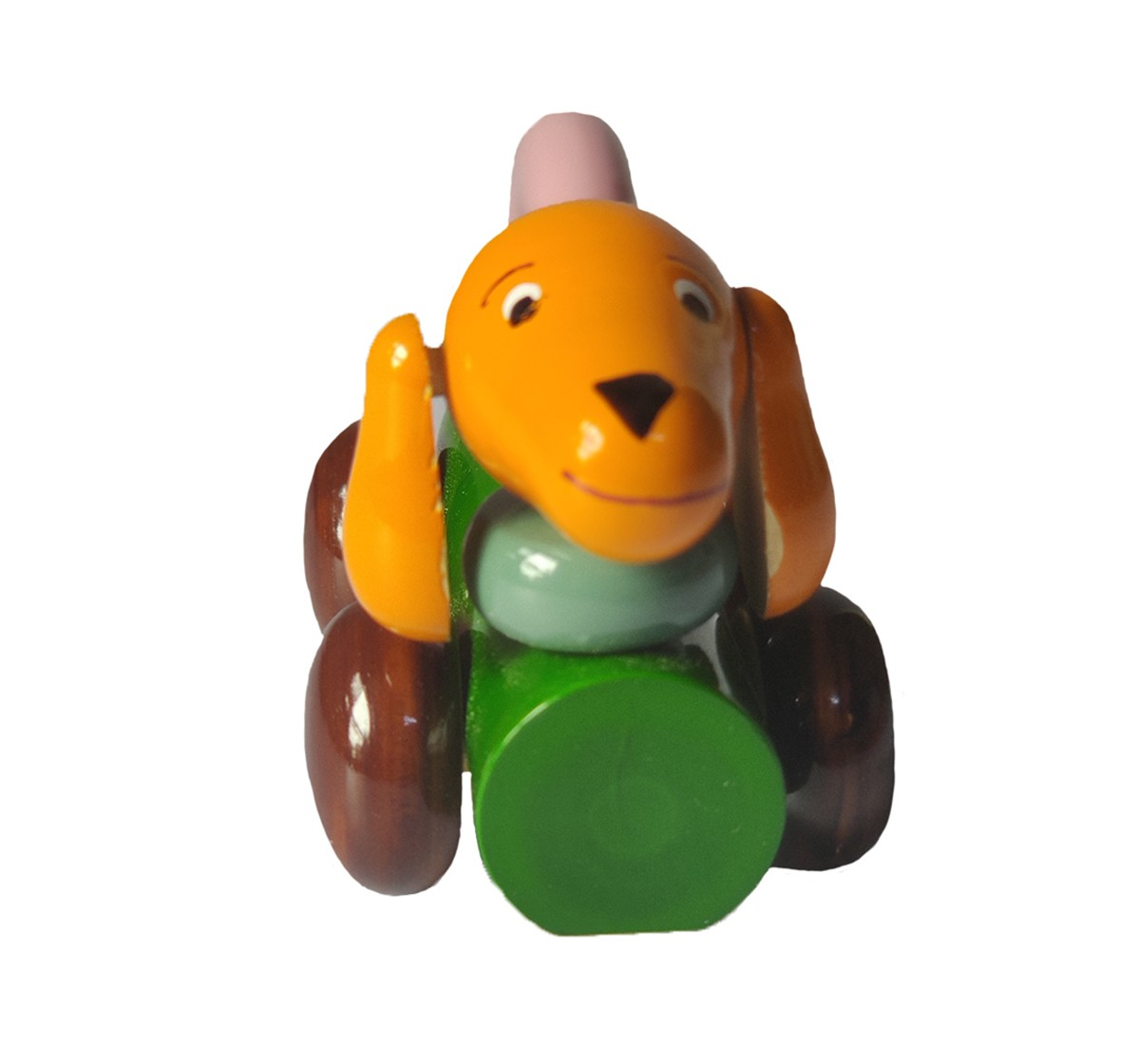 Nurture India Wooden Dog Pulling Toy Wooden Toys for Kids age 12M+