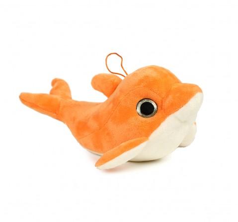 Soft Buddies Dolphin Orange, Unisex, 1Y+(Multicolour)