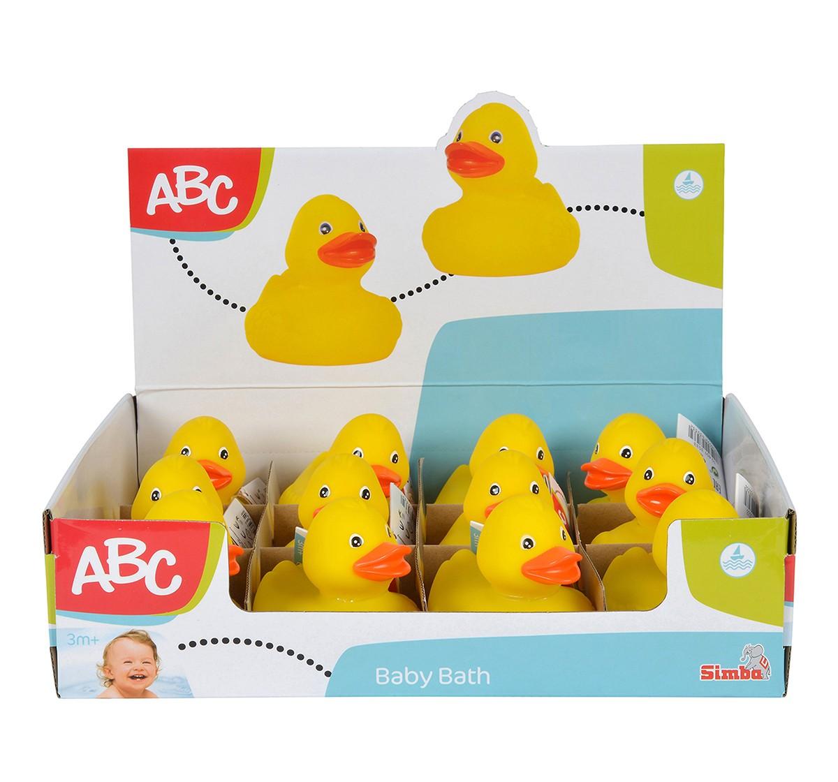 Simba Abc Rubber Ducks In Display Assorted, Unisex, 0M+ (Yellow)