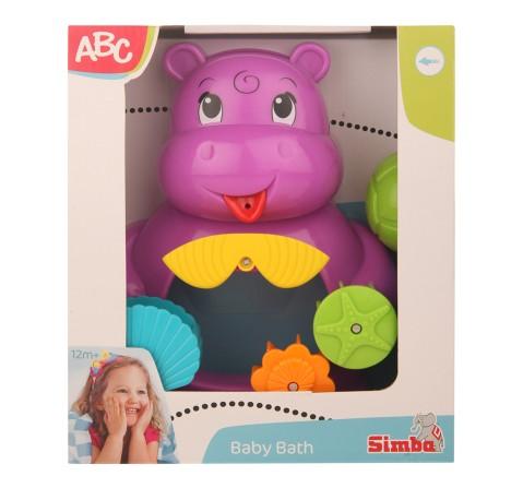 Simba Abc Bath Hippo, Unisex, 12M+ (Pink)