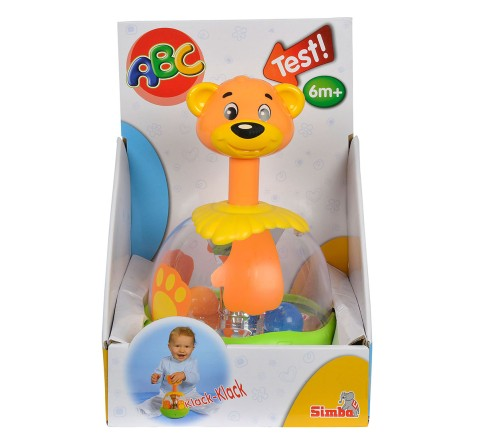 Simba Abc Funny Bear Spinning Top, Unisex, 6M+ (Multicolor)