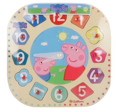 Simba Peppa Pig Teaching Clock, Unisex, 2Y+ (Multicolor)
