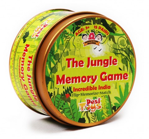 Desi Toys Jungle Memory Card Game for Kids age 3Y+ - 1.27 Cm (Green)