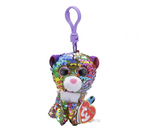 Ty DOTTY - Flippables Rainbow Leopard Clip Plush Accessories for Kids age 3Y+ - 8.5 Cm