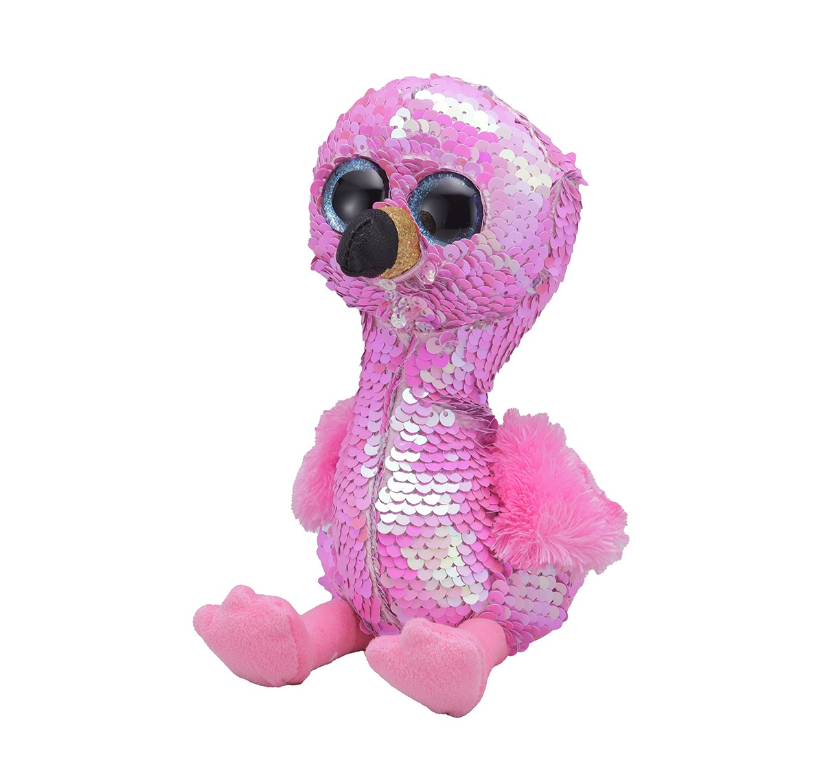Ty PINKY - Flamingo Regular Flippables Quirky Soft Toys for Kids age 3Y+ - 15 Cm