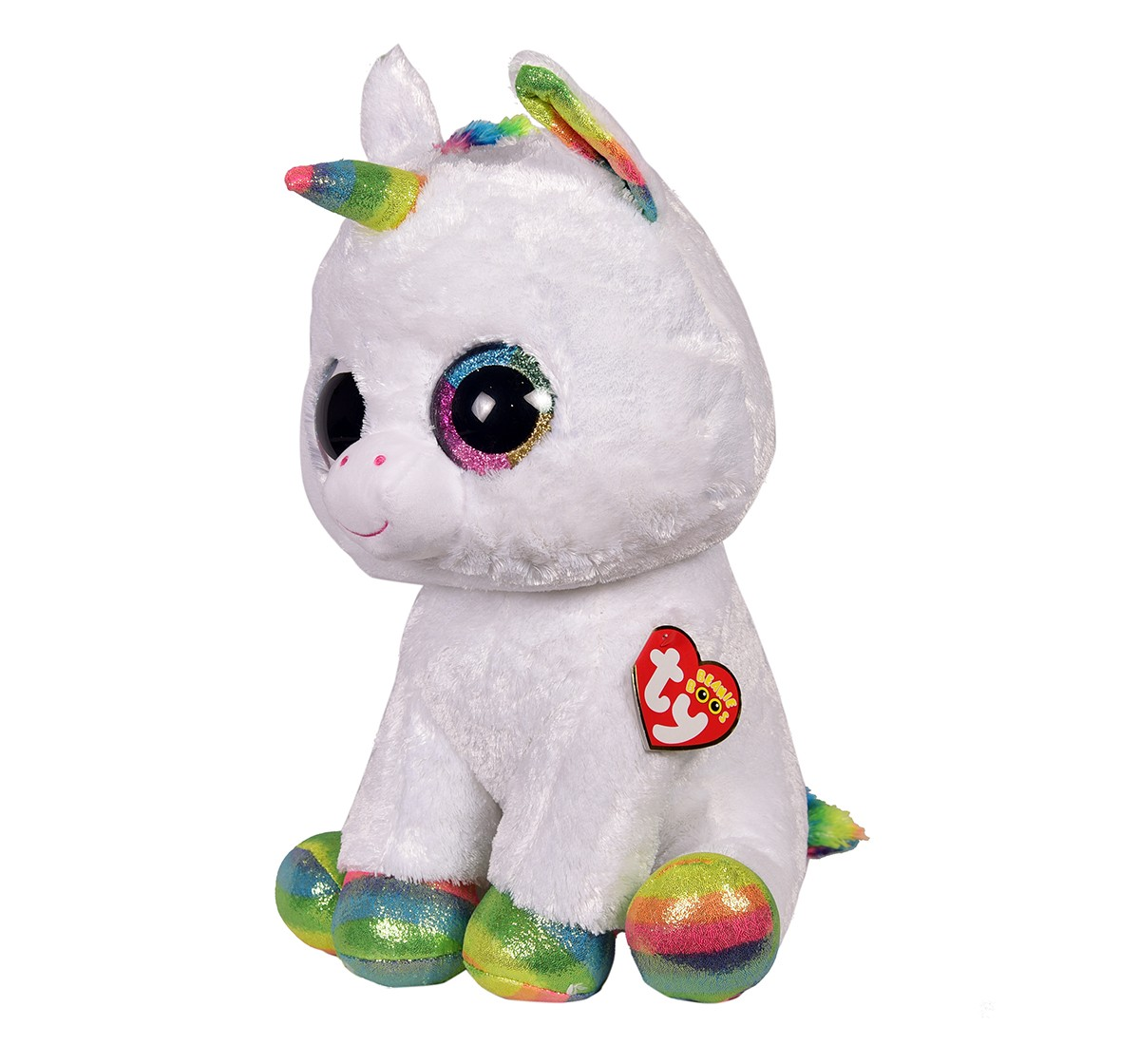 Ty PIXY - White Unicorn Large Quirky Soft Toys for Kids age 3Y+ - 42 Cm