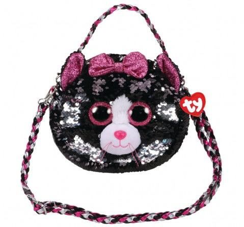 Ty KIKI - Sequin Shoulder Bag Plush Accessories for Kids age 3Y+ - 15 Cm