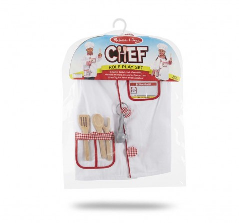 Melissa & Doug : Chef Role Play Costumer Set Girls Accessories for Kids Age 5Y+