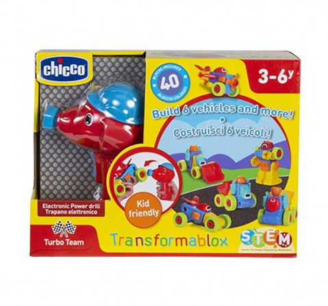 Chicco Transformablox Activity Set with Electronic Power Drill for Kids age 2Y+