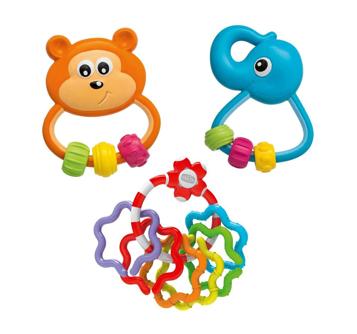 Chicco Play Set of Teethers & Rattles for Kids age 3M+