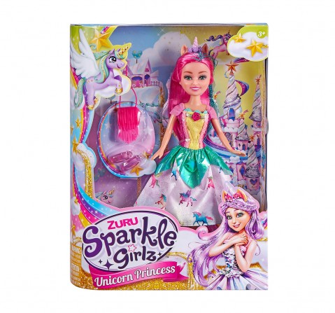 Sparkle Girlz Unicorn Princess  with Accessories Dolls  for Girls age 3Y+