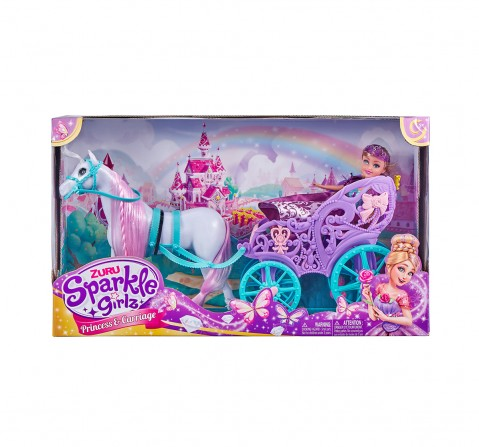 Sparkle Girlz Princess With Horse And Carriage Dolls & Accessories for Girls age 3Y+