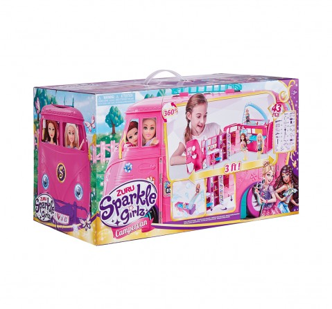 Sparkle Girlz Campervan Set Doll House & Accessories for Girls age 3Y+